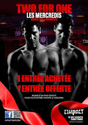 MERCREDI A L'IMPACT BAR GAY