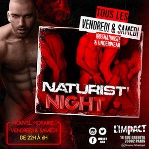 NATURIST NIGHT AT L'IMPACT BAR GAY
